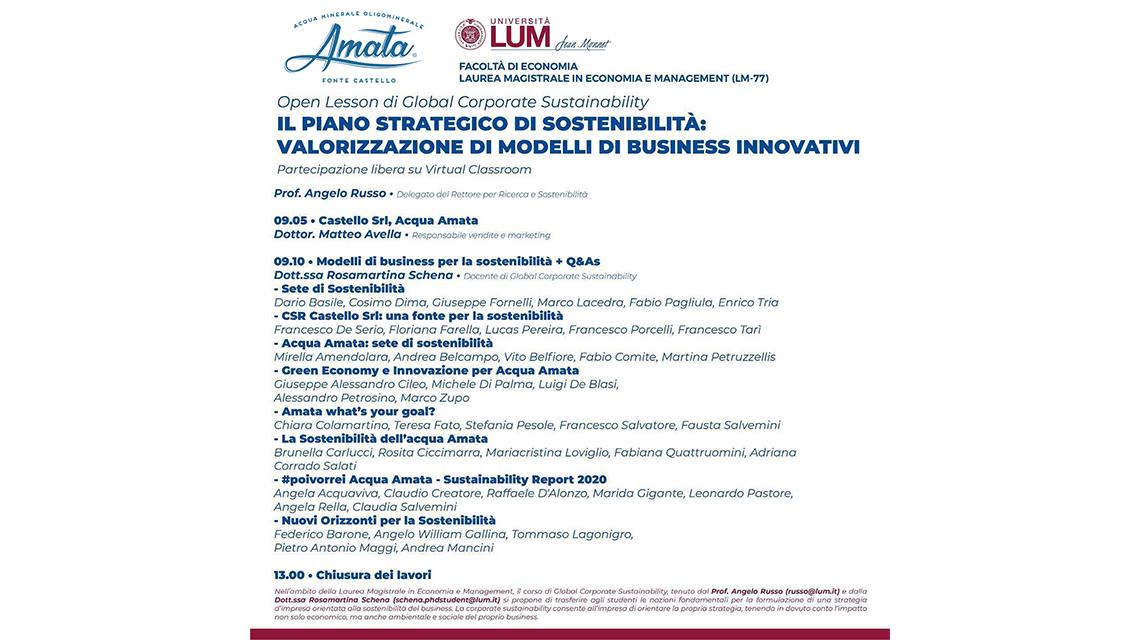 Il piano strategico di sostenibilità: valorizzazione di modelli di business innovativi