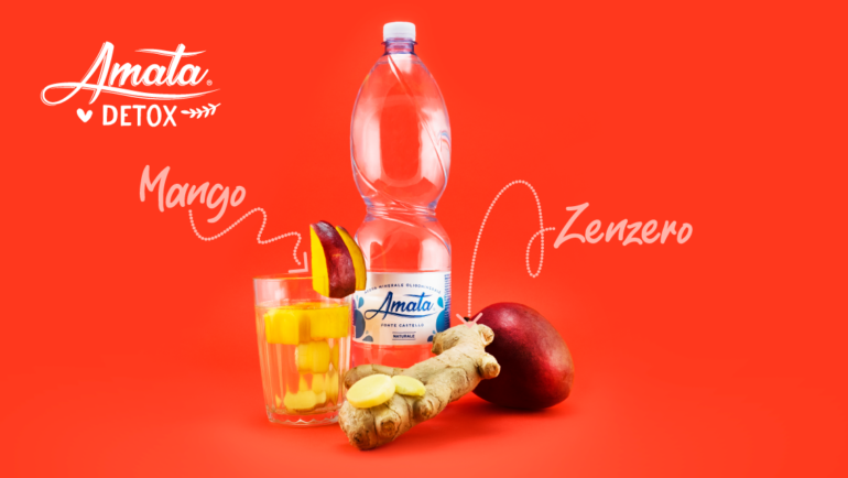 ACQUA DETOX con mango e zenzero. Ricetta facile e veloce!