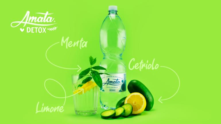 ACQUA DETOX con cetriolo, limone e menta. Ricetta facile e veloce!