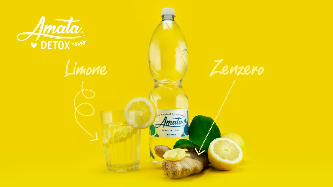 ACQUA DETOX con zenzero e limone. Ricetta facile e veloce!