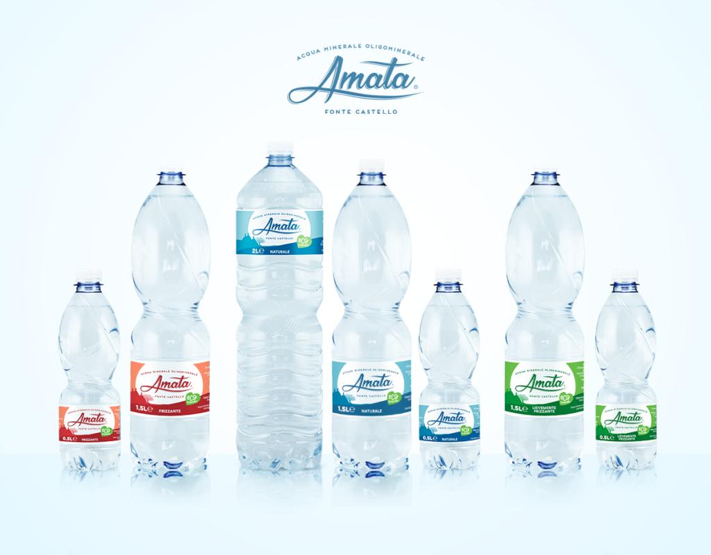 Acqua Amata cambia volto: nuova grafica per etichette e imballaggi all'insegna della modernità e sostenibilità
